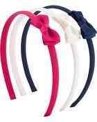 Emballage de 3 bandeaux à nœuds, , hi-res