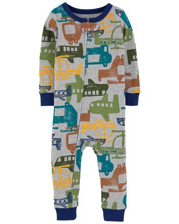 Pyjama 1 pièce en coton ajusté à hé...