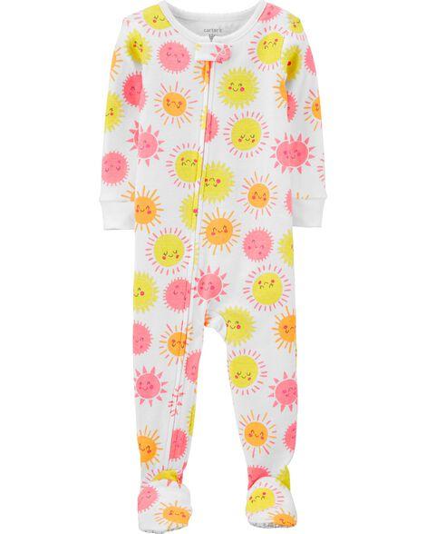 1-Piece Sunshine Snug Fit Cotton Footie PJs