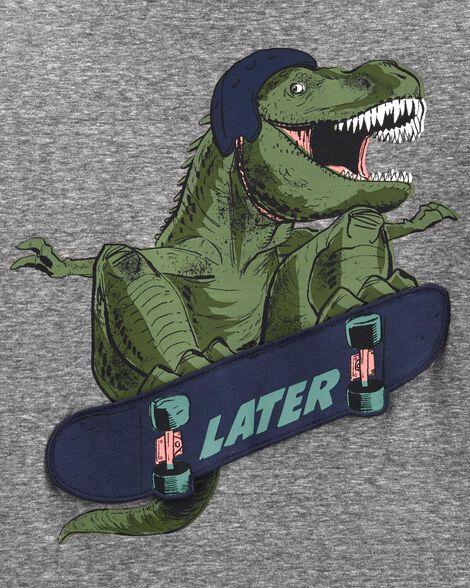 T-shirt en jersey chiné Tyrannosaure planchiste