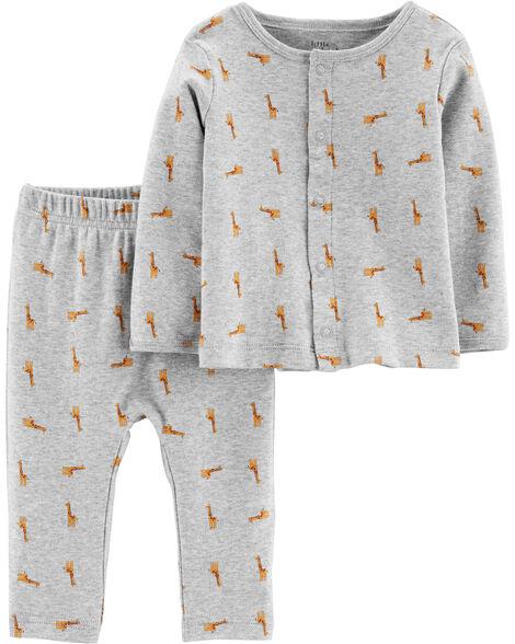 Pyjama 2 pièces ajusté en coton certifié biologique