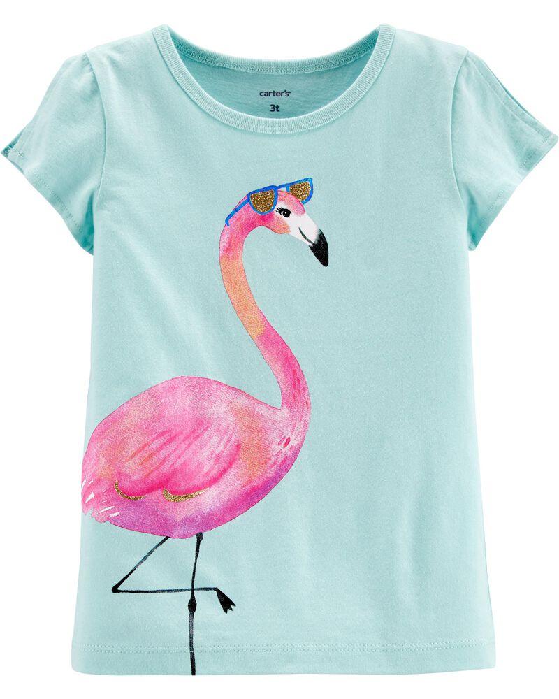 Flamingo Split Shoulder Jersey Tee, , hi-res