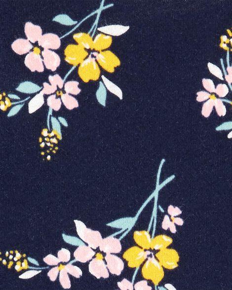 Robe en jersey fleuri