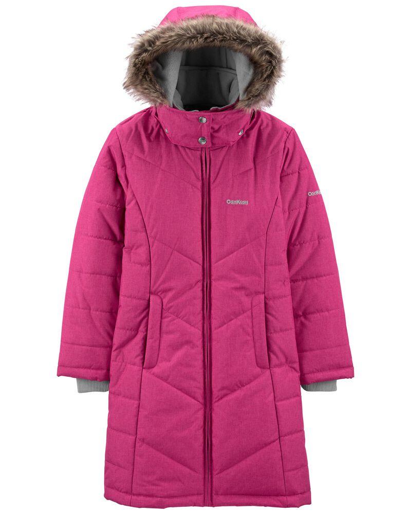 Hooded Long Puffer Coat, , hi-res