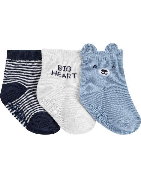 Emballage de 3 paires de chaussons animaux