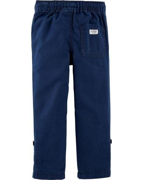 Pantalon convertible en popeline