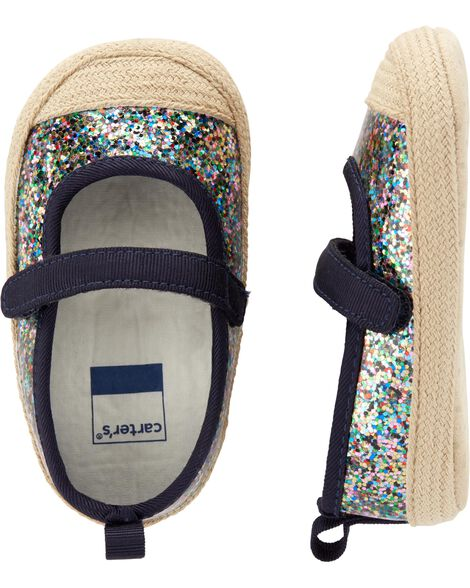 Glitter Mary Jane Baby Shoes