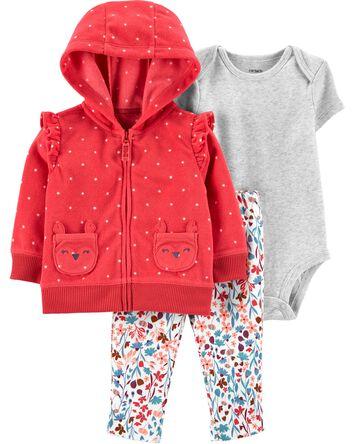 3-Piece Fleece Little Jacket Set