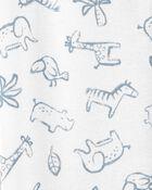Grenouillère sans pieds en coton avec glissière , , hi-res