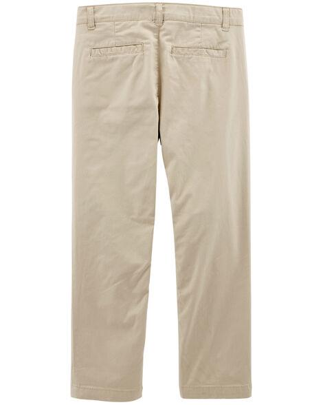 Pantalon d'uniforme ajusté en coutil extensible