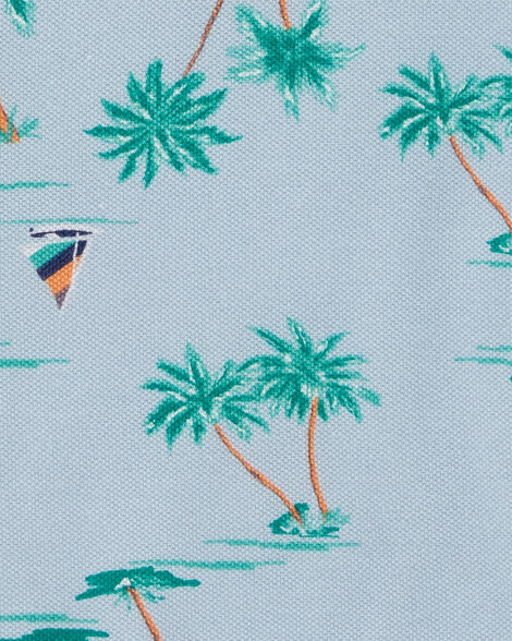 Palm Tree Pique Polo