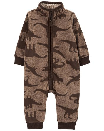 Dinosaur Fleece Jumpsuit
