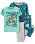 4-Piece 100% Snug Fit Cotton PJs, , hi-res