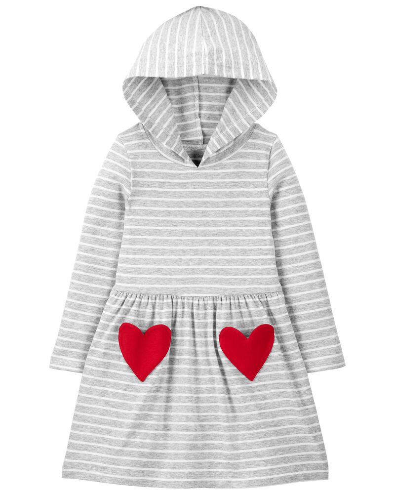 Heart Hooded Jersey Tee, , hi-res