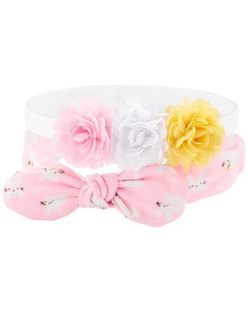 2-Pack Floral Headwraps