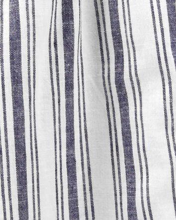 Striped Wide Leg Crop Jumpsuit