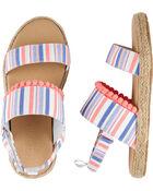 Striped Espadrille Sandals, , hi-res