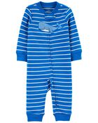 Whale Zip-Up Footless Sleep & Play, , hi-res