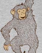 Ensemble 2 pièces t-shirt à singe et short en popeline, , hi-res