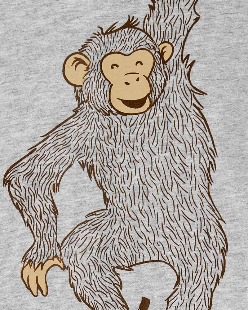 2-Piece Monkey Tee & Poplin Short Set, , hi-res