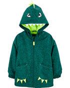 Dinosaur Fleece-Lined Rain Jacket, , hi-res