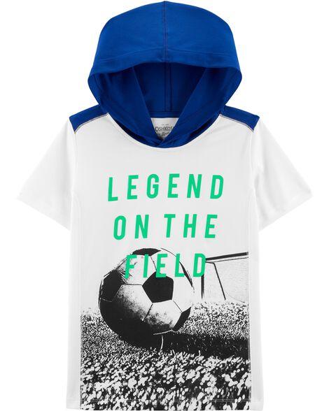 T-shirt de sport à capuchon avec imprimé soccer