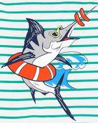 3-Piece Fish Loose Fit PJs, , hi-res