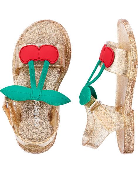 Sandales à cerises scintillantes