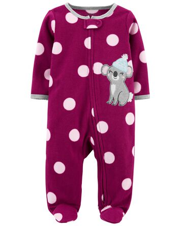 1-Piece Koala Fleece Footie PJs