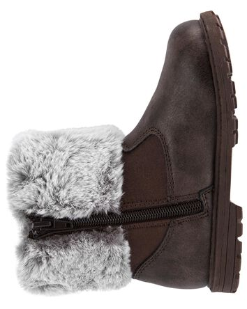 Furry Collar Boots