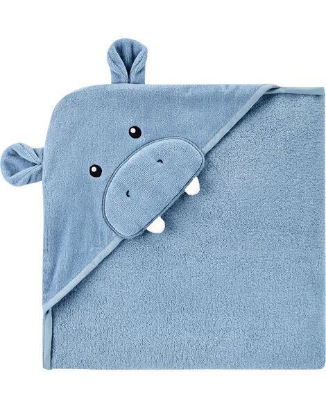 Serviette de bain à capuchon hippopotame
