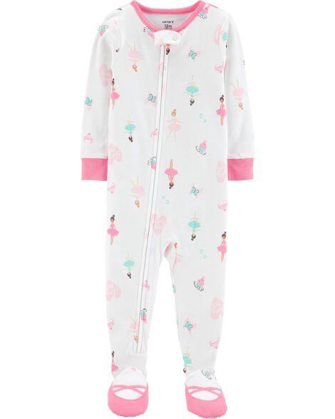 1-Piece Ballerina Snug Fit Cotton PJs