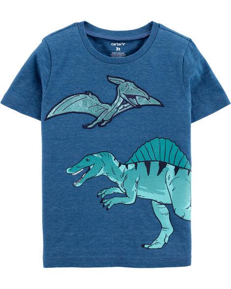 Dinosaur Snow Yarn Jersey Tee