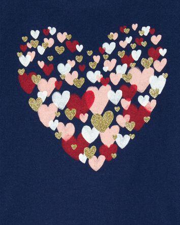 Haut en jersey avec cœur