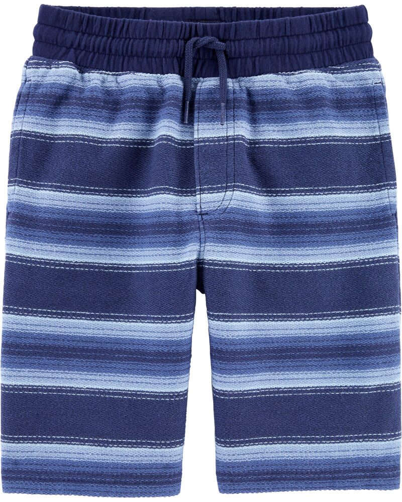 Pull-On Striped French Terry Shorts, , hi-res