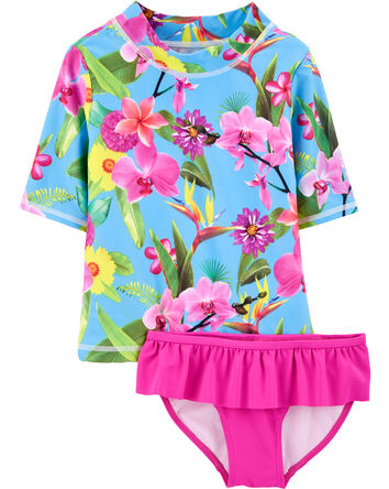Tropical 2-Piece Rashguard Set