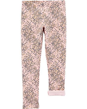 Leopard Cozy Fleece Leggings