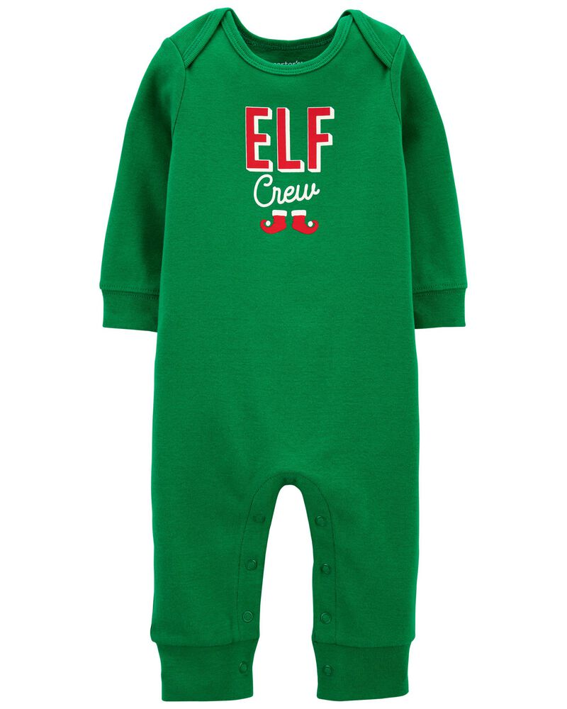 Elf Snap-Up Cotton Footless Sleep & Play, , hi-res
