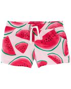 Watermelon Pull-On French Terry Shorts, , hi-res