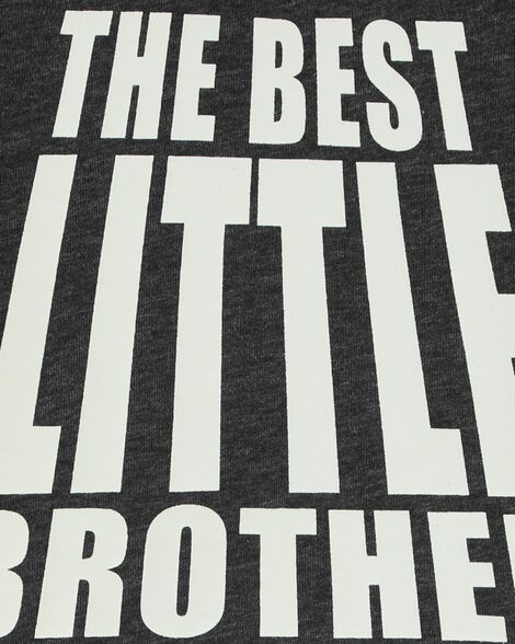 T-shirt en jersey chiné meilleur petit frère