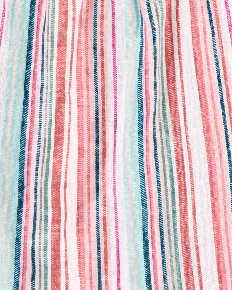 Striped Linen Top, , hi-res