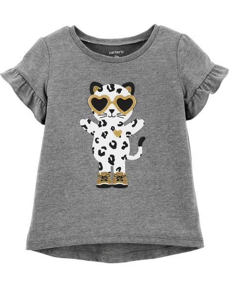 Leopard Hi-Lo Jersey Tee