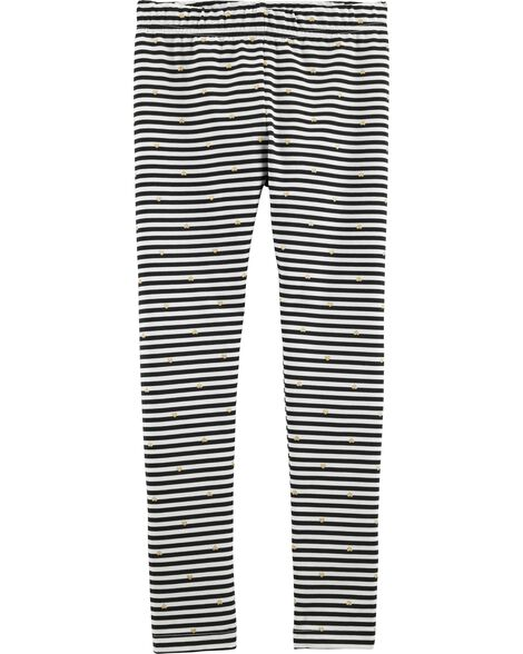 Striped Heart Leggings