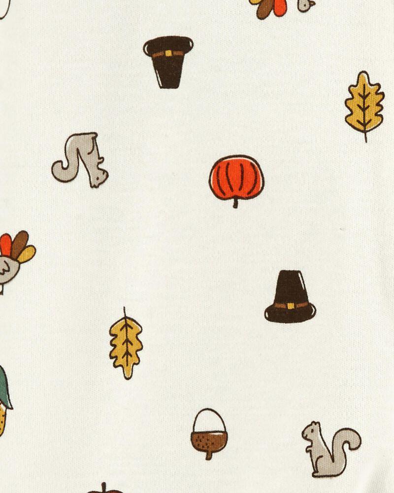 Thanksgiving 2-Way Zip Cotton Sleep & Play, , hi-res