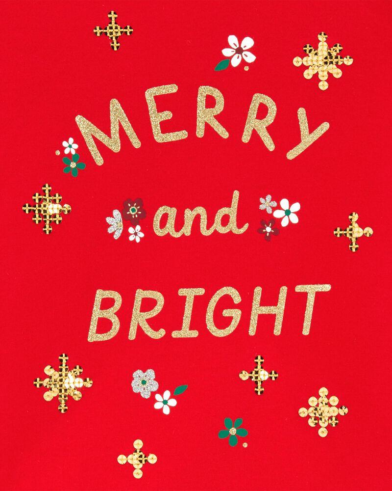 T-shirt en jersey Merry And Bright, , hi-res