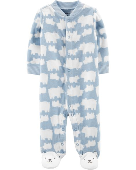 Polar Bear Snap-Up Fleece Sleep & Play