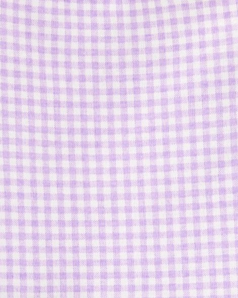 2-Piece Gingham Bodysuit & Short Set