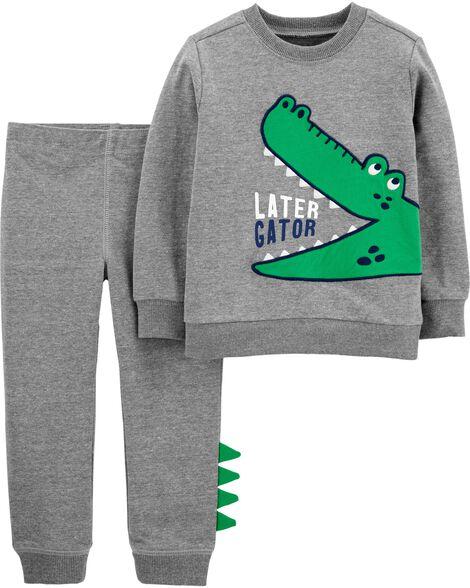 Ensemble 2 pièces chandail à alligator et pantalon de jogging