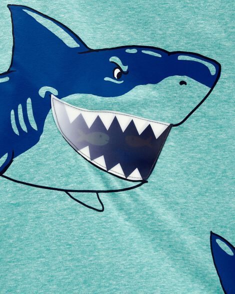 T-shirt chiné à requin en action