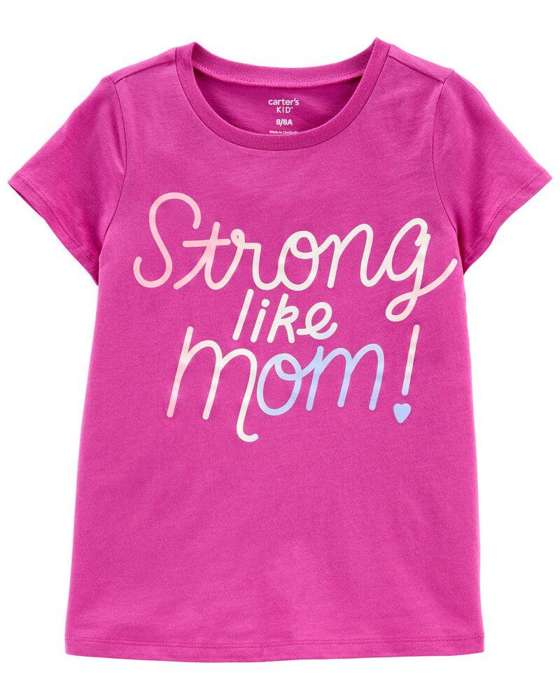 T-shirt en jersey Strong Like Mom , , hi-res